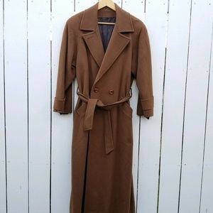 Vintage 100% Cashmere Long Wrap Coat